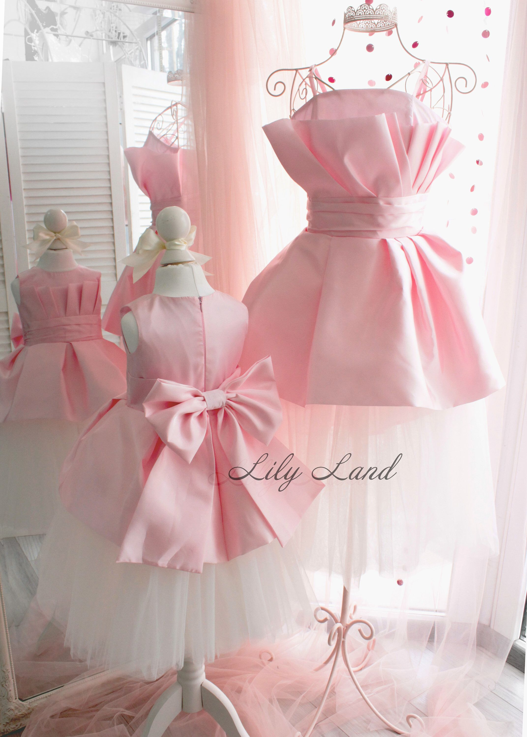 Matching Dresses Pink tutu Mother and daughter holiday dress ...