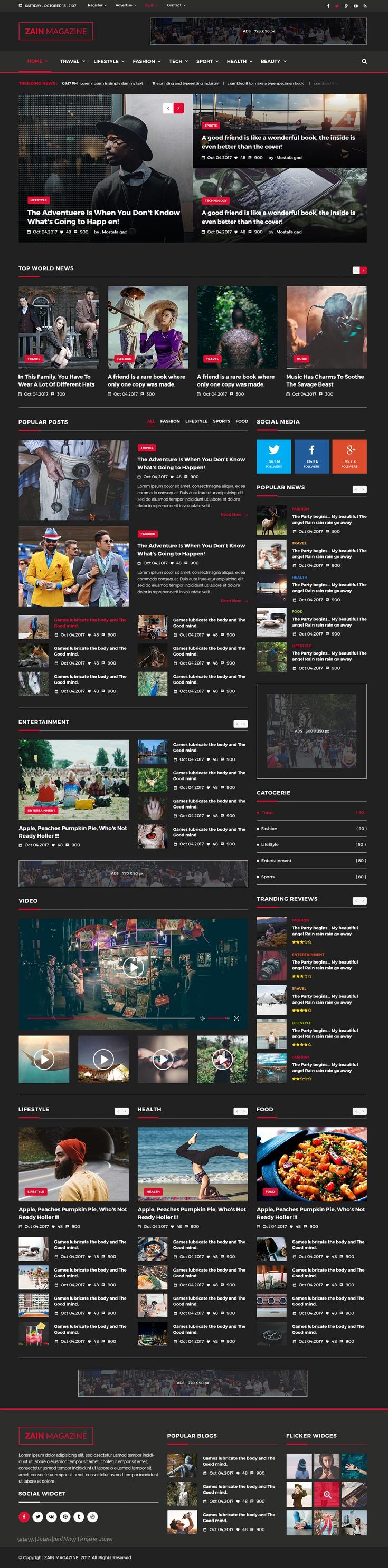 zain news magazine psd template psd templates magazine website