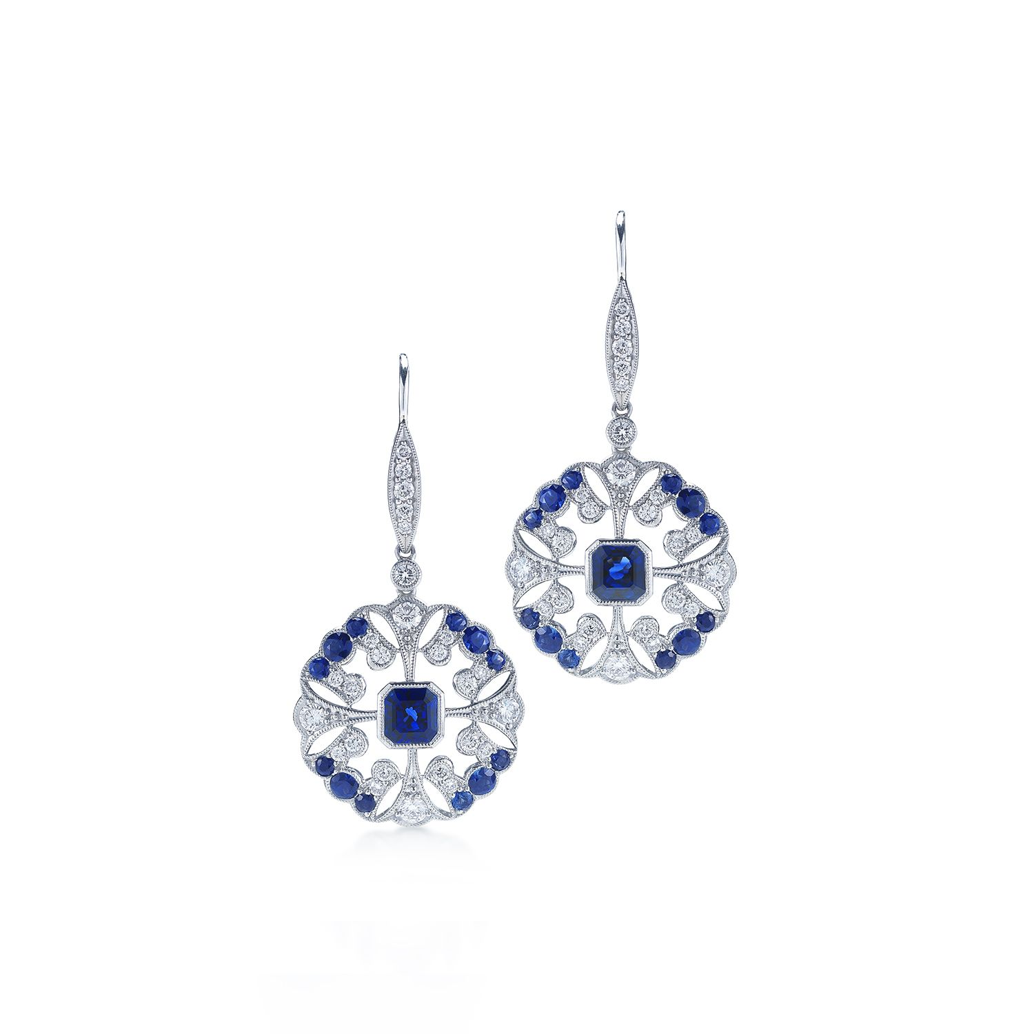 Sapphire and diamond Earrings from Kwiat at DK Gems the Best duty