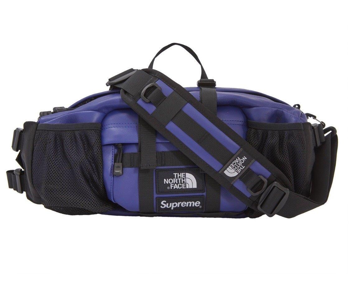 13e9643c7 Details about Supreme x The North Face - Leather Shoulder Bag Black ...