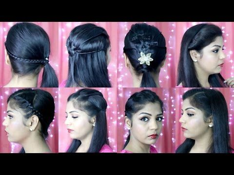 4 Quick And Easy Hairstyles Indian Party Heatless Hairstyles Superprincessjo Easy Hairstyles Indian Hairstyles Short Hair Styles Easy