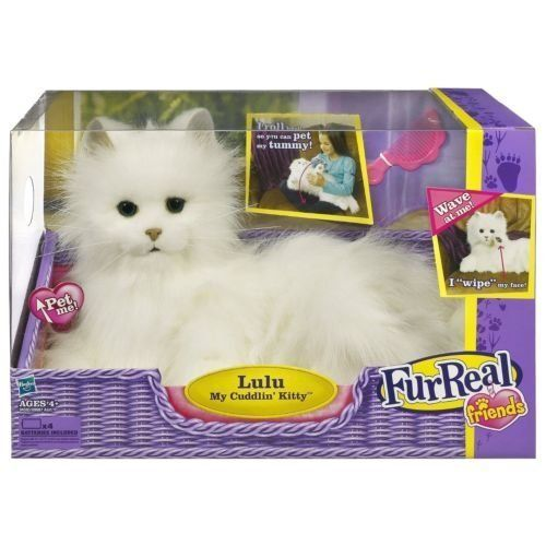 Fluffy Kitty Figure Moves And Makes Realistic Cat Sounds In Response To Pet Her Head And She S Purr And Roll Backscratch Fur Real Friends Kitten Toys Cat Kids