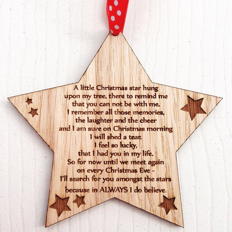 Remembrance Memorial CHRISTMAS XMAS TREE DECORATION In Memory 10CD