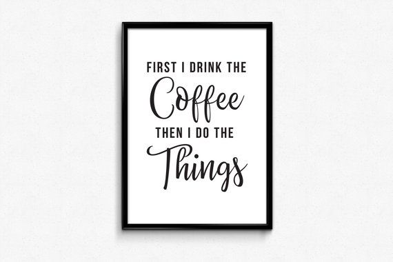 Coffee bar sign printable coffee quotes print digital
