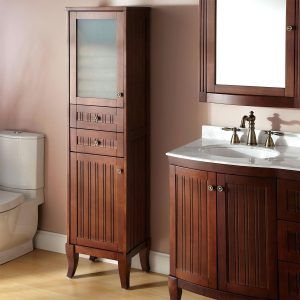 Lovely Vanity with Side Cabinet