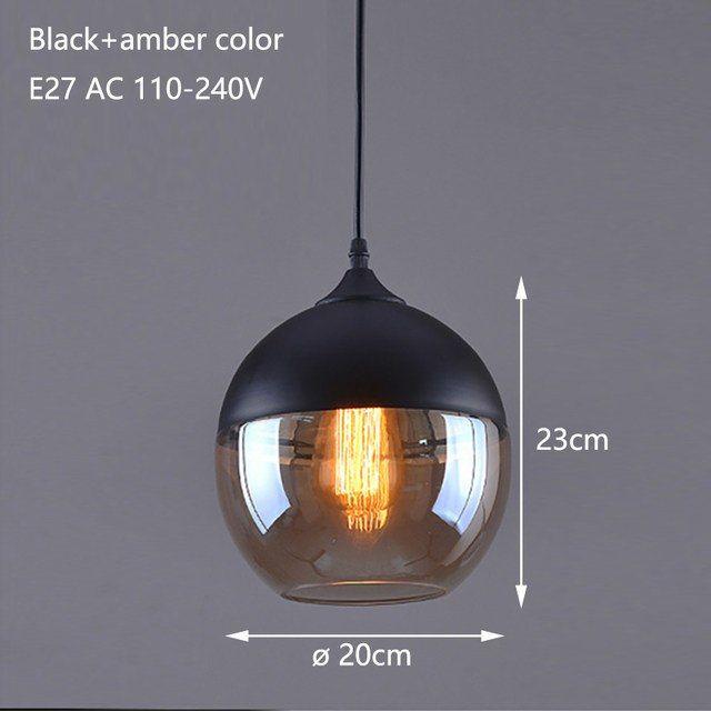 Online-Shop Nordic Moderne loft hängen Glas Anhänger Lampe Leuchten