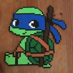 TMNT Leonardo hama beads by PysselNabon