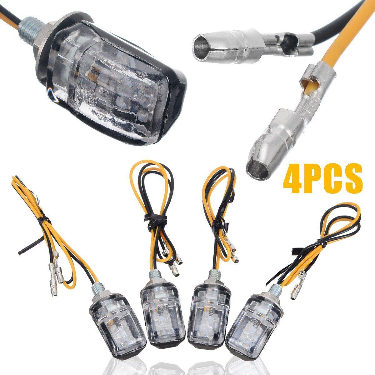 48 LEDs Motorcycle Rear Tail Light Strip Red//Amber Signal Brake 5050 SMD DC 12V
