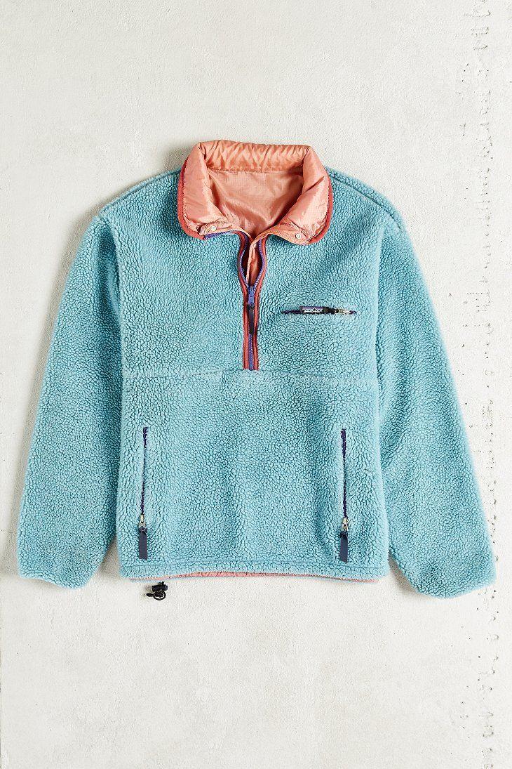 Vintage Patagonia Fleece Jacket Urban Outfitters Fall Fashion