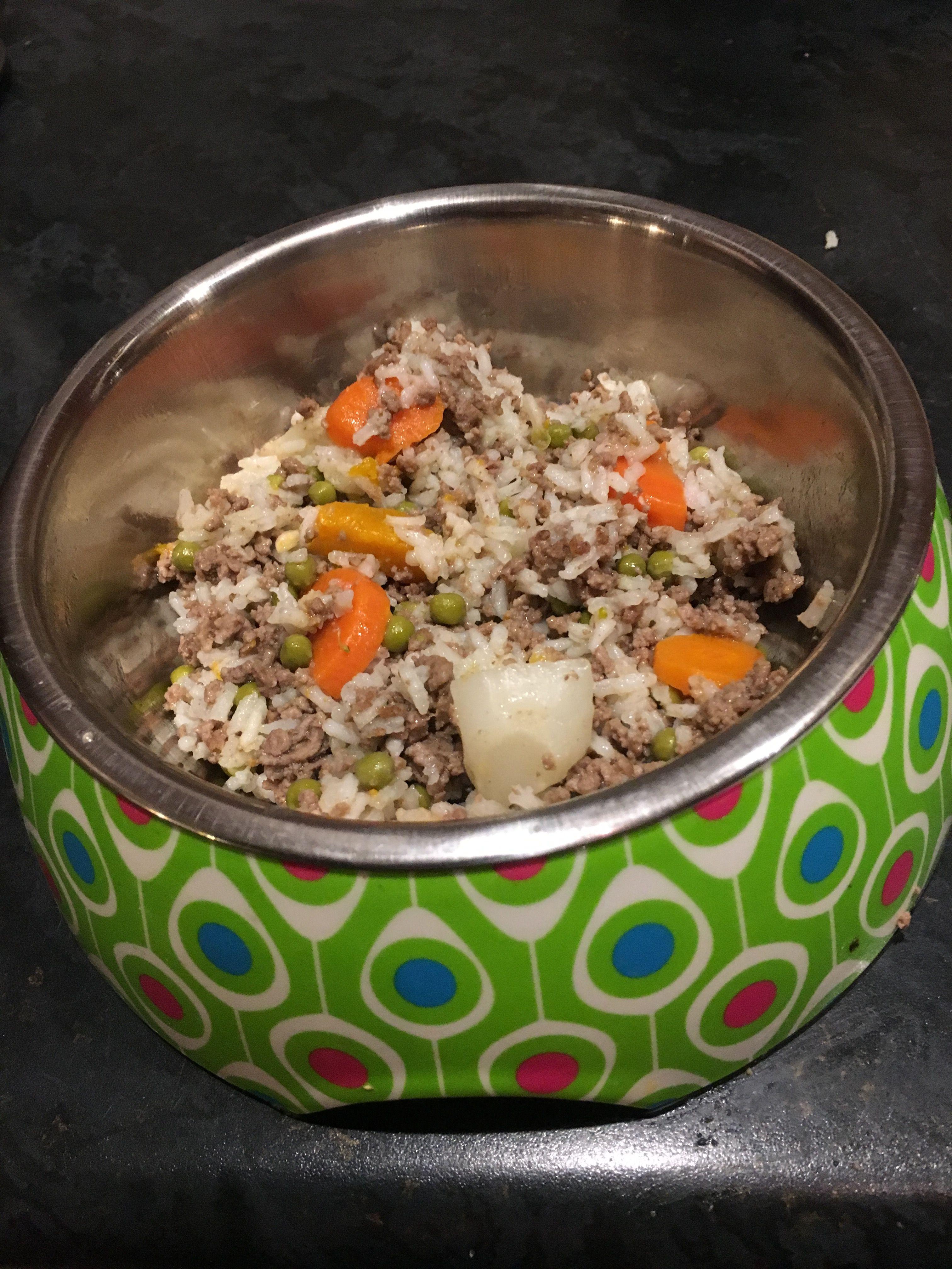 Rice With Lamb Mince Lentils Veggies Dog Food Recipes Food