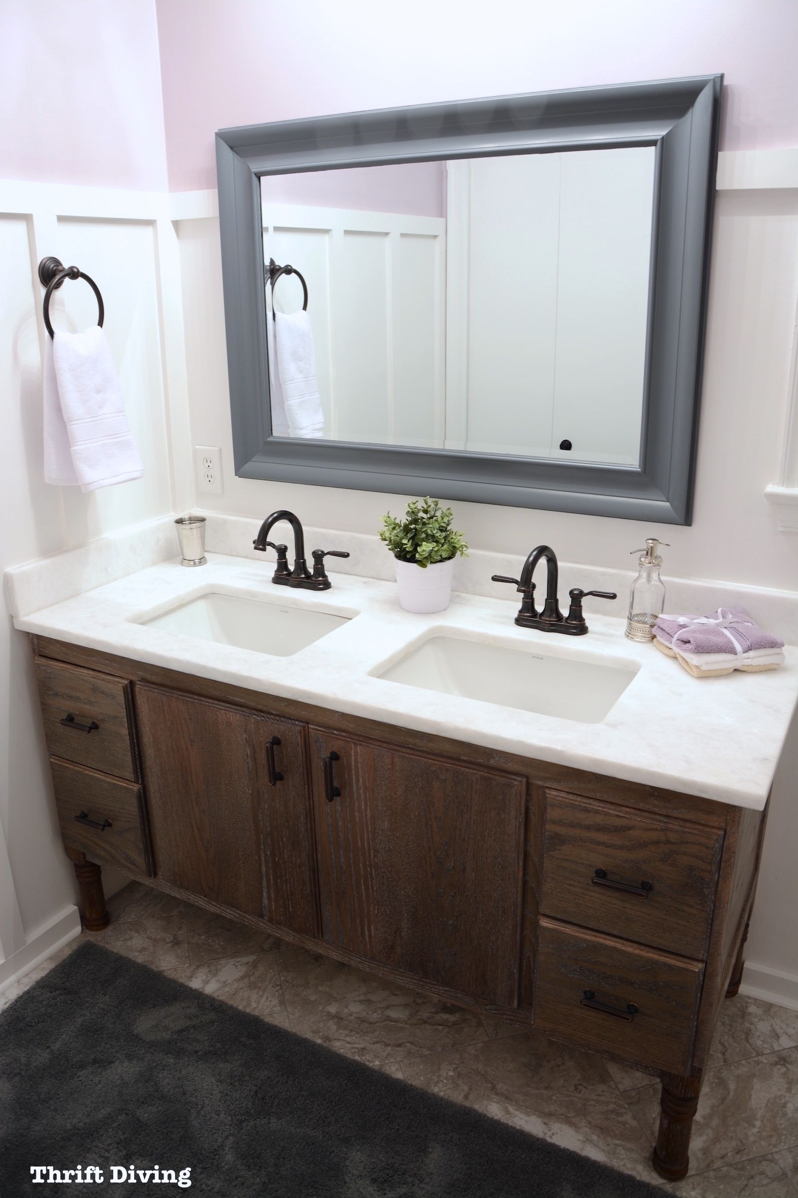 My Pretty Lavender Bathroom Makeover BEFORE & AFTER