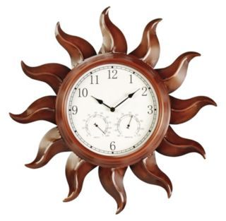 Astonica 3 In 1 Outdoor Sun Clock Thermometer