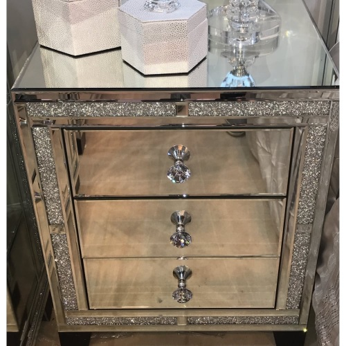 Diy Mirrored Nightstand Google Search In 2020 Mirrored Bedroom