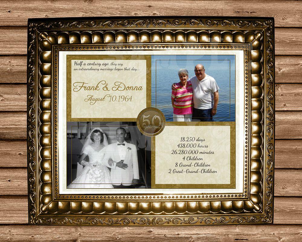 50th Wedding Anniversary Then Now Print Wedding Anniversary