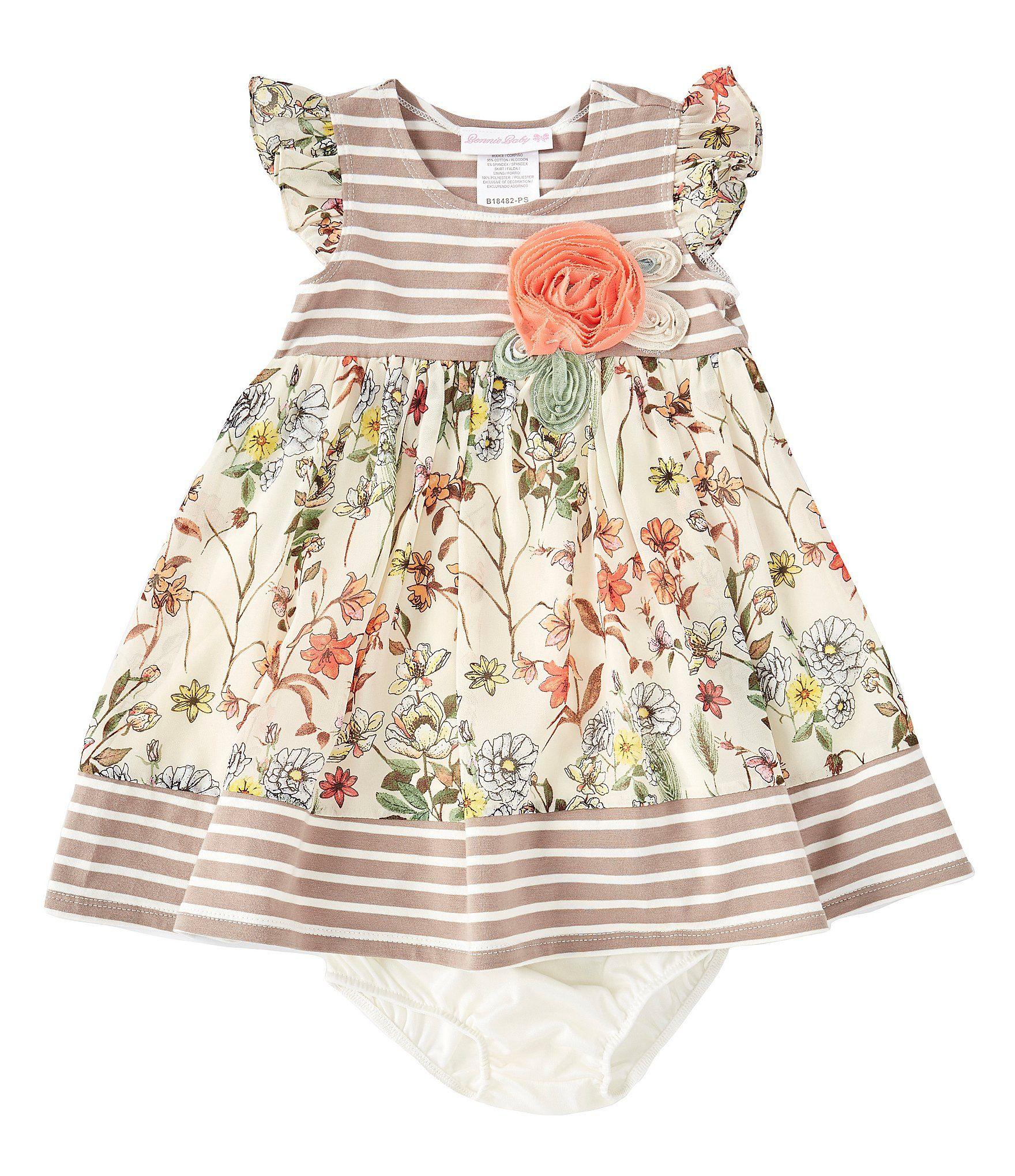 Photo of Bonnie Jean Baby Girls Newborn-24 Months Mixed-Media A-Line Dress | Dillard's