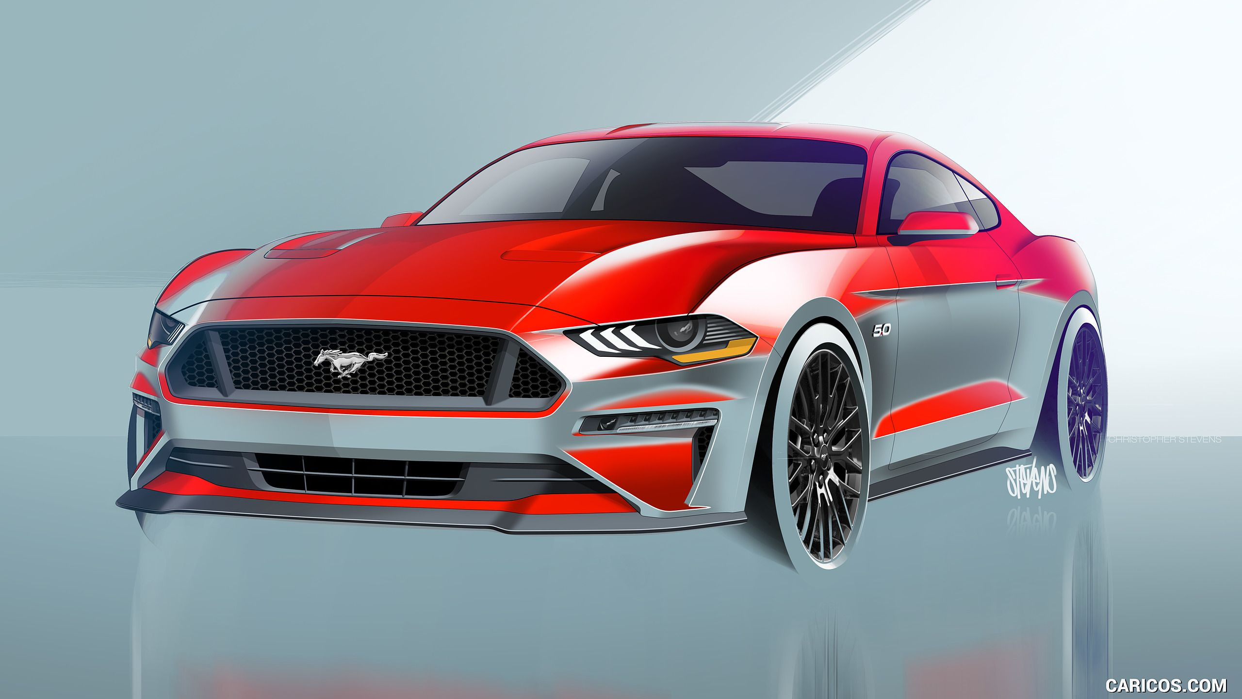 2018 Ford Mustang Design Sketch HD