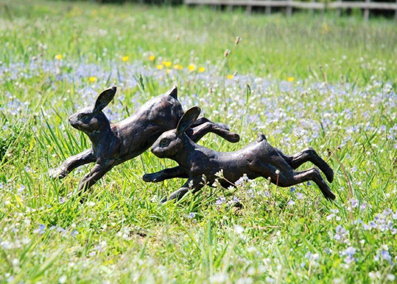 Running Rabbits Garden Ornaments