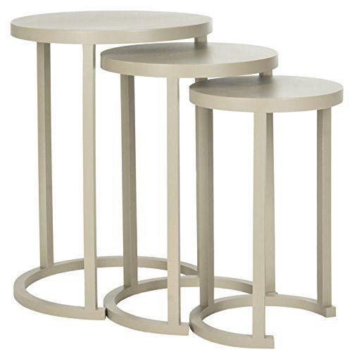 Safavieh American Home Collection Sawyer Light Grey Nesting Tables Safavieh  Http://www.