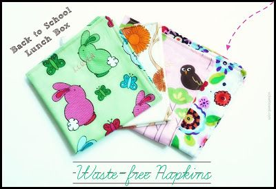 The Mothercraft: Back-to-School Cloth Napkins! | Vickie Howell