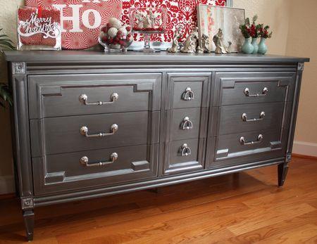 Dresser Re Do Using Martha Stewart Metallic Finishing Glaze