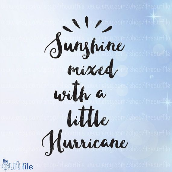 3ab579ce1459f Sunshine mixed with a little Hurricane svg, southern sayings, womens ...