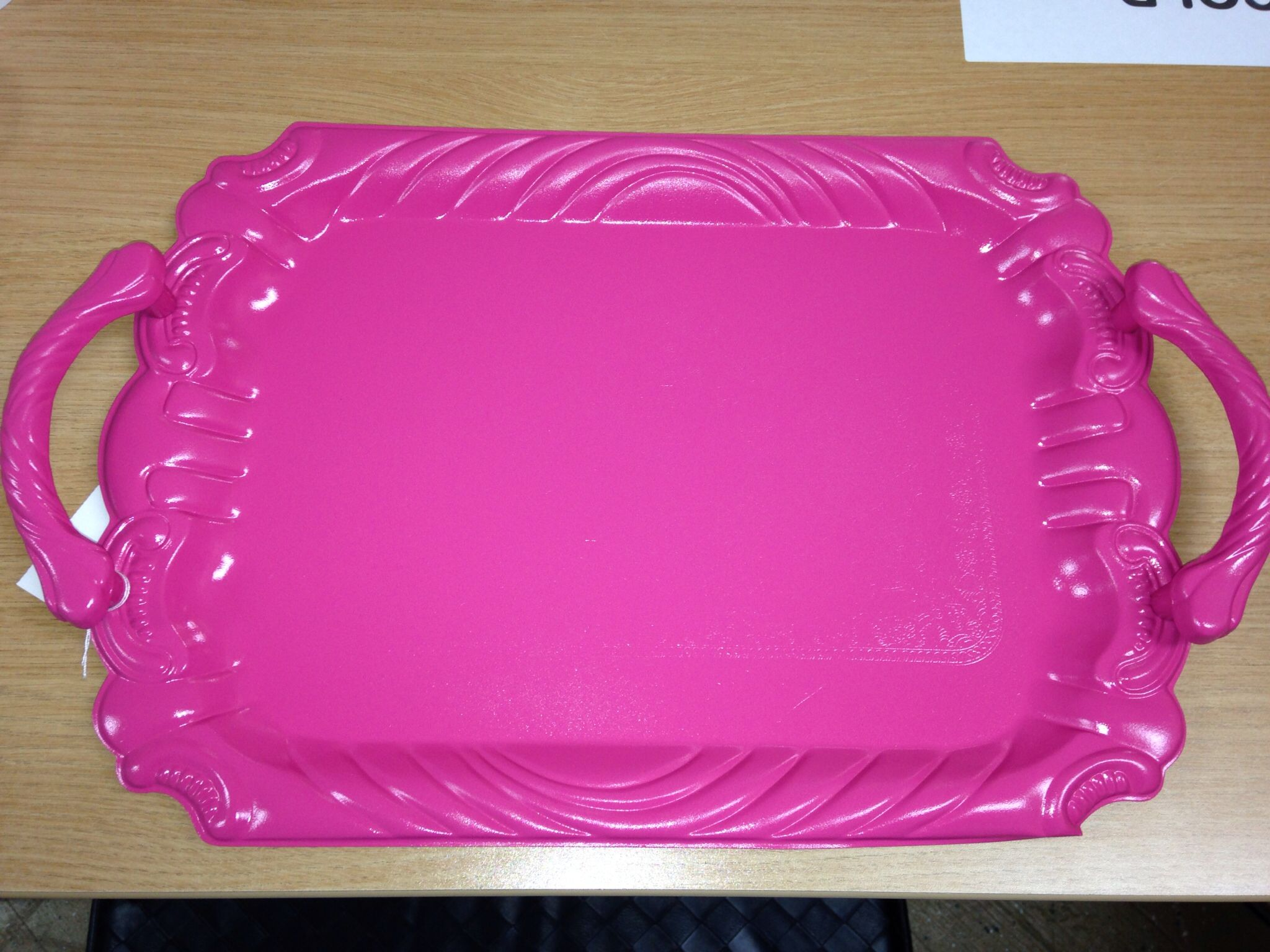 Shabby Chic tray painted pink $19.99