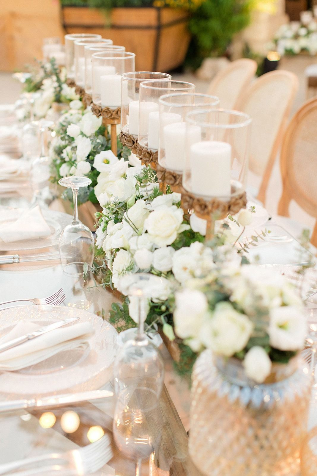 2019 Lebanese Beautiful and Simple White Wedding Ambience