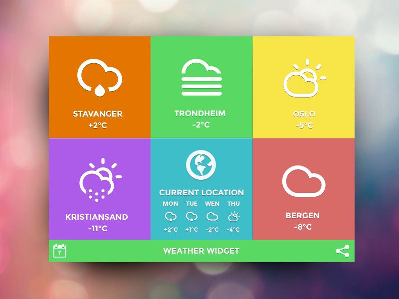 The weather app got its inspiration from Windows. | Beautiful App ...