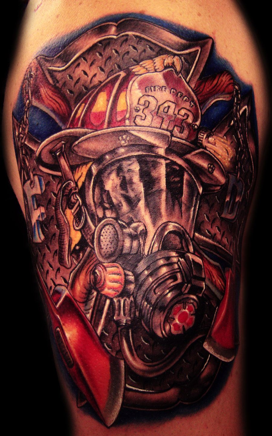 Firefighter tattoo i would only get one for my brother for Firefighter tattoos and meanings
