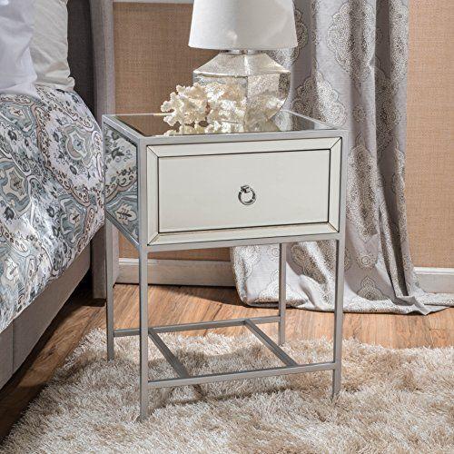 Popular Athena Mirrored Silver 1 Drawer Side Table Gif Studio sw r pi awdb x Hr4vybHHK8XB3 Awesome - Fresh side table with drawer Luxury