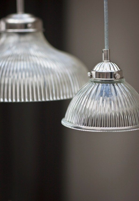 This retro feel Paris Pendant ceiling light with its fluted glass