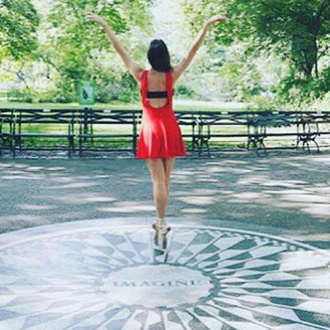 """And the world will be as one"" //I M A G I N E// Captured by @albertayzenberg  #imagine #lyrics #johnlennon #bekindtooneanother #centralpark #nyc #ballerina"
