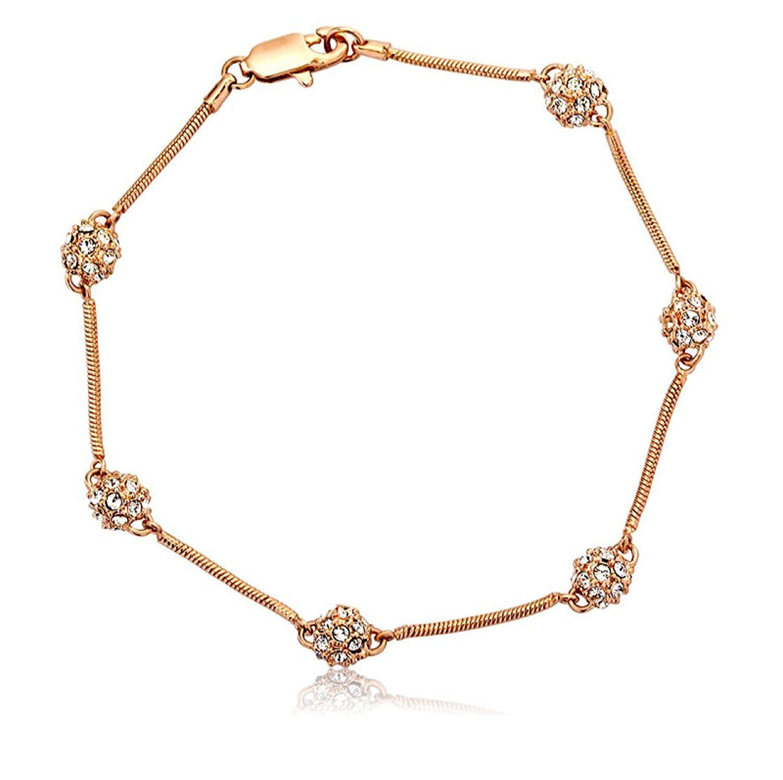 Swarovski austrian crystal bracelet k rose gold plated custom