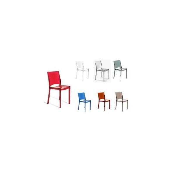 Sedie policarbonato trasparente modello b side sedie for Sedie moderne eleganti