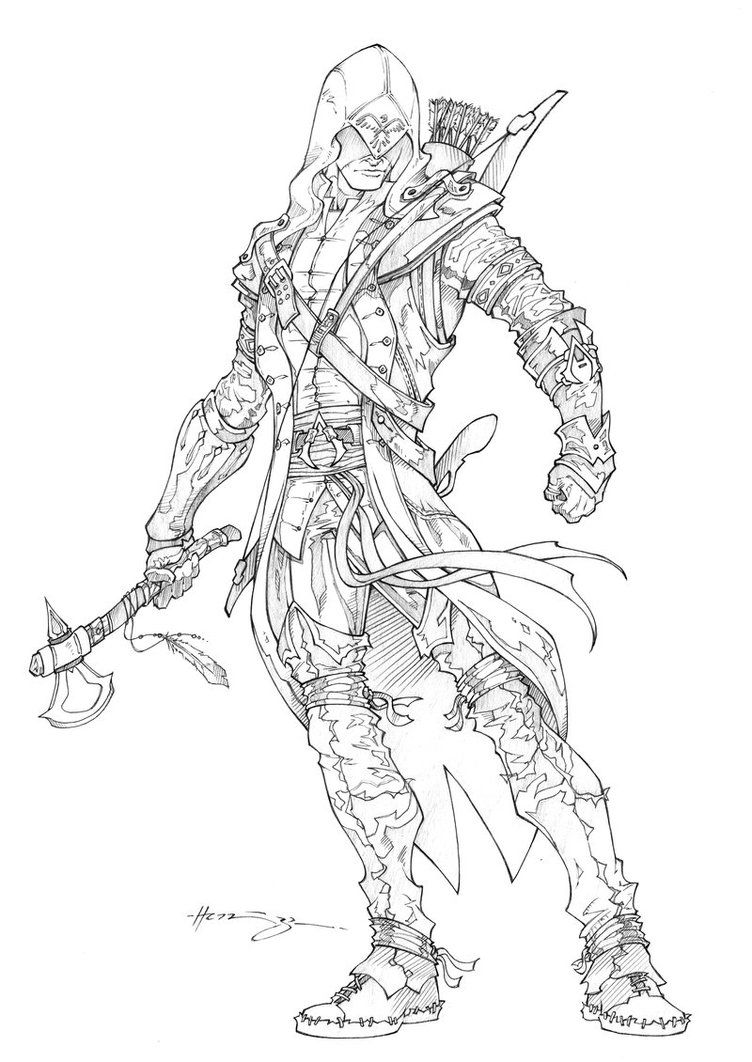 Assassin s Creed printable coloring