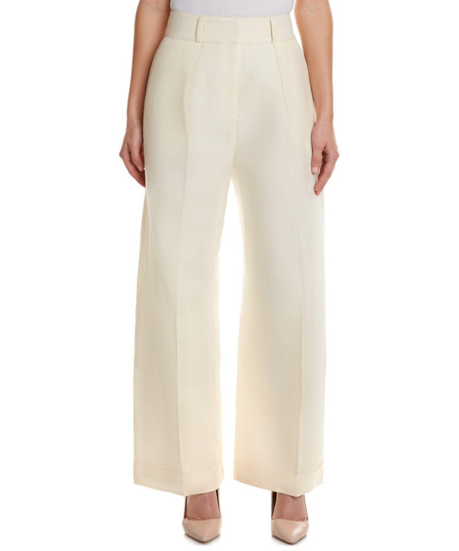 Amani Belted Tencel And Linen-blend Wide-leg Pants - White Mara Hoffman 7Vi1u6jdOD