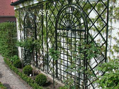 iron trellises for outdoor walls