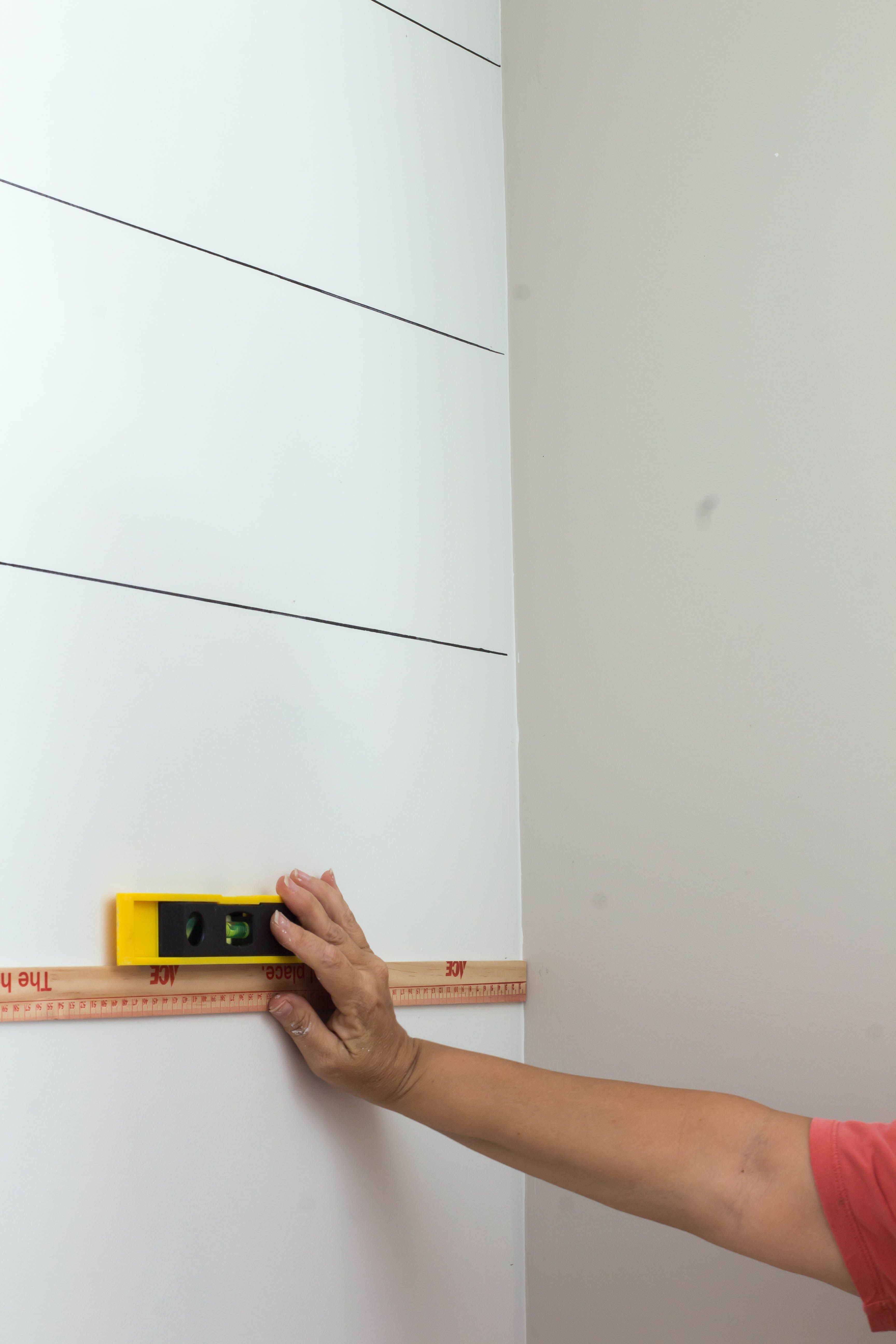 How to Faux Shiplap with a Sharpie Paint Pen - Savvy Apron