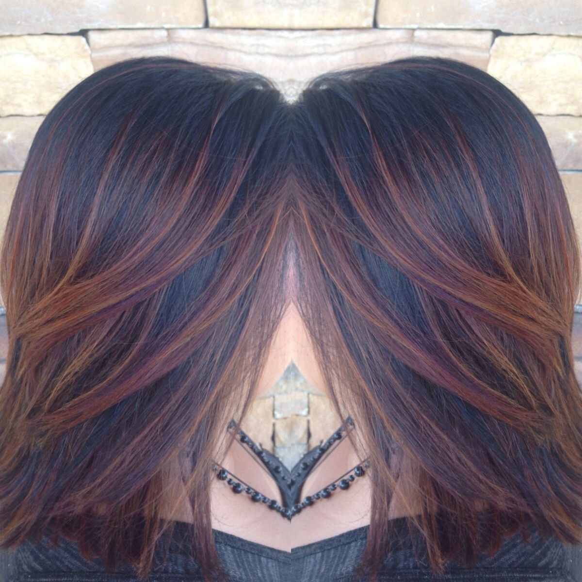 Amber Copper Red Auburn Ombr 233 Weave With Balayage On Black