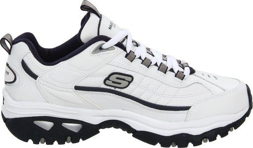 Skechers Sport Men's Energy Afterburn Lace-Up Sneaker,White/Navy,12 M