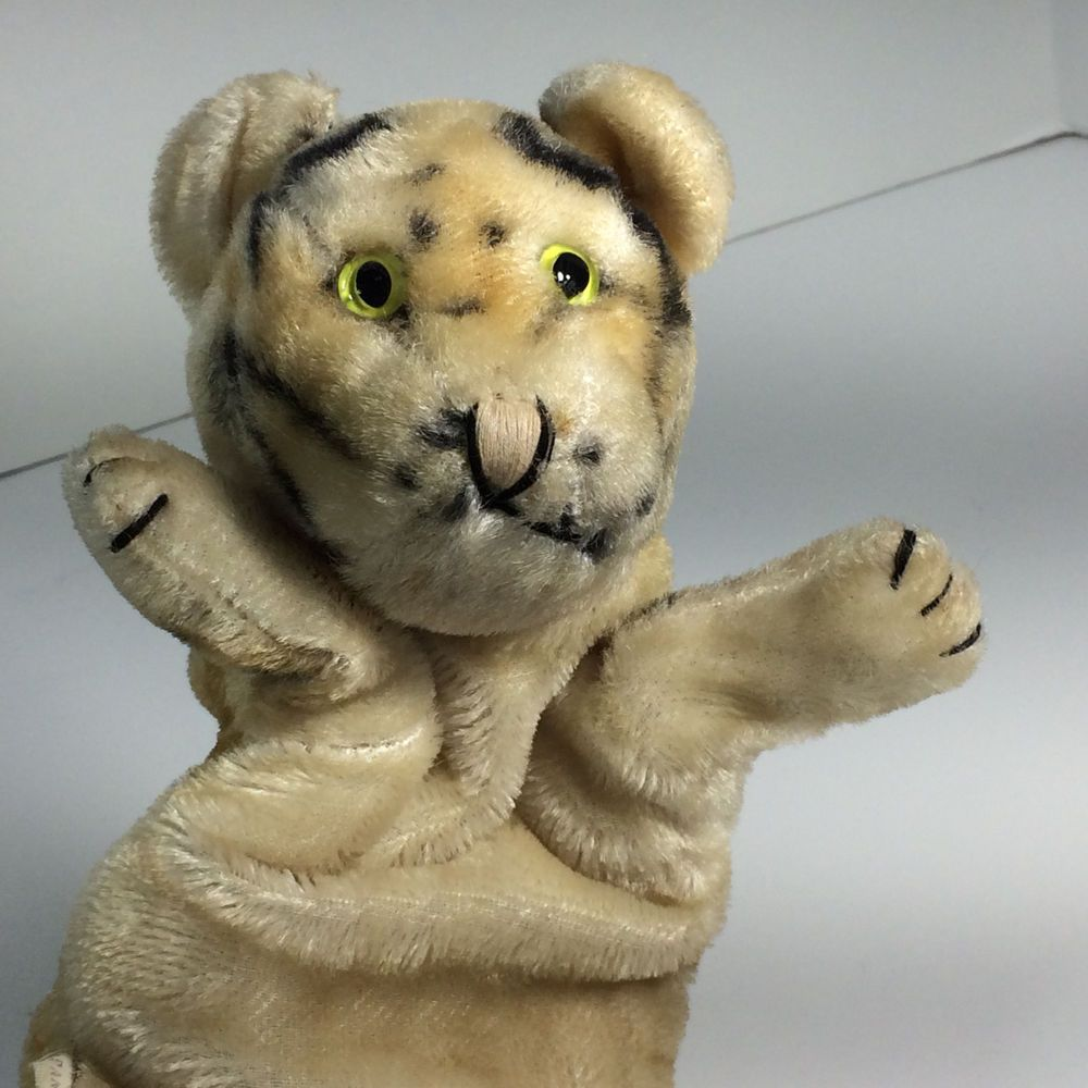 Vintage Daniel Tiger Cat Puppet Mr Rogers Neighborhood Japan Label Very Clean Unknown Crazy Cats Dinosaur Stuffed Animal Crazy Cat Lady