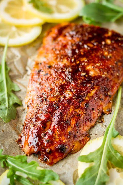 Photo of Sweet & Smoky Brown Sugar Grilled Cedar Plank Salmon Recipe   Yummly