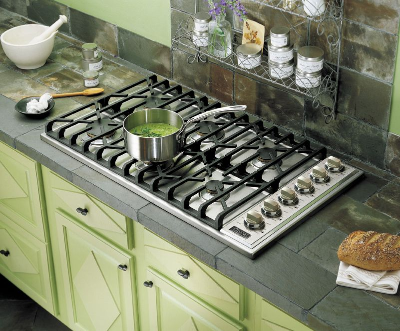 six burner range with knobs on top Google Search