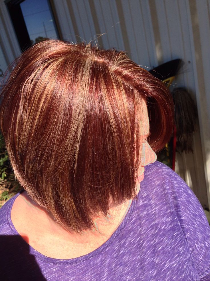 Dark Brown With Red And Caramel Highlights Google Search