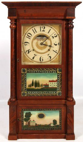 Birge Mallory And Co Triple Decker Shelf Clock C Vintage Clock Antique Clocks Clock