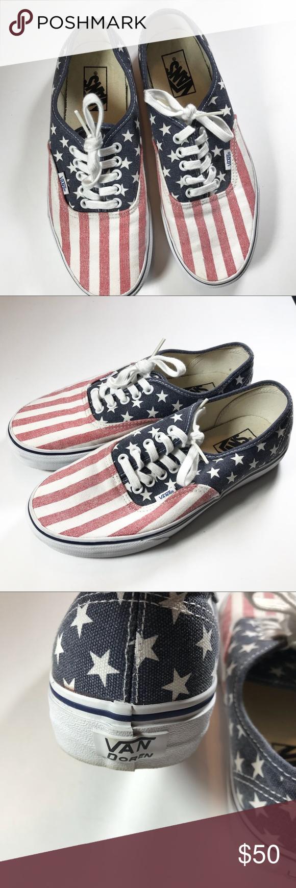 3c60317cbf Vans Van Doren Stars   Stripes American flag shoes Vans Van Doren Stars and Stripes  Shoes
