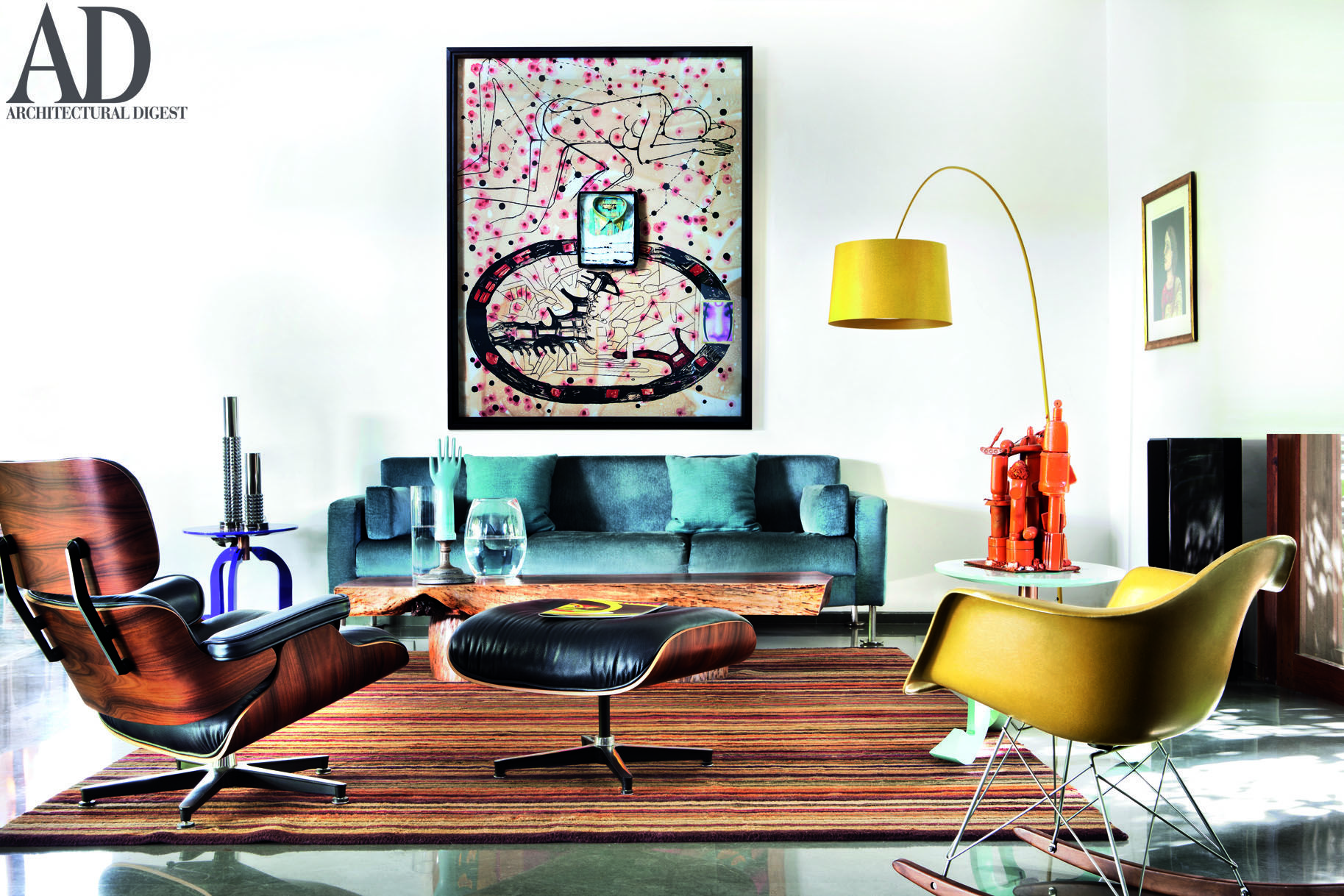 The living room of the Bengaluru home of architect Sandeep