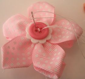 Ribbon Flowers by MakeBowsandMore.com: How to make a 5 Petal Ribbon Flower #ribbonflower