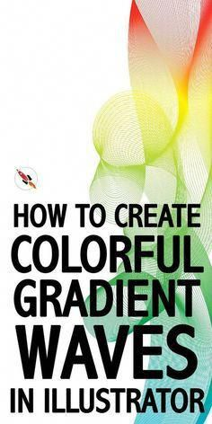 This illustrator tutorial show you, how easy you can create colourful gradient mesh waves in Adobe illustrator. #PhotoshopHowToAdobeIllustrator