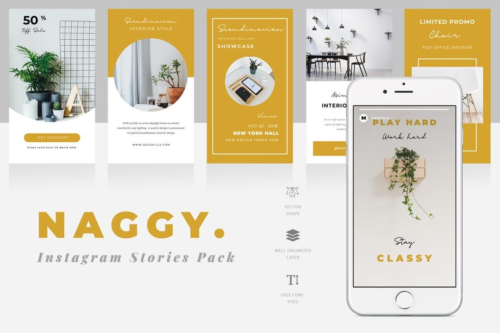 Naggy Instagram Story Template by TMint on Envato Elements
